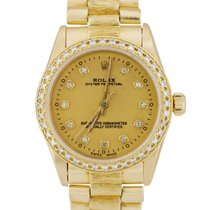 Rolex Yellow gold Automatic Champagne 31mm pre-owned Oyster Perpetual