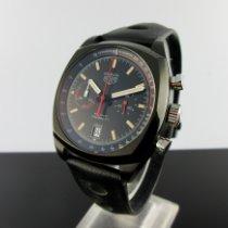 TAG Heuer Monza Titanium 42mm Zwart Geen cijfers