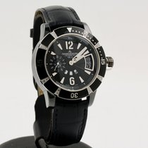 Jaeger-LeCoultre Master Compressor Diving GMT Steel 39mm Black Arabic numerals