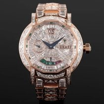 Graf Or rose Remontage manuel Graff Star45 18k rose gold customized full diamond occasion