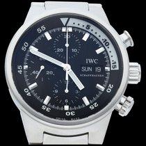 IWC Aquatimer Chronograph Aço 42mm Preto Sem números