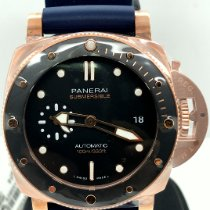 Panerai Rose gold Automatic Black No numerals 42mm new Luminor Submersible