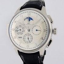 IWC Platinum Automatic Silver Arabic numerals 45mm pre-owned Portuguese Grande Complication