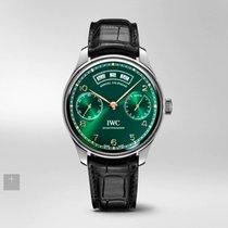 IWC Portuguese Annual Calendar Steel 44.2mm Green