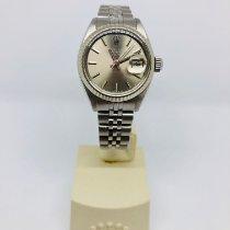 Rolex Staal Automatisch Zilver Geen cijfers 26mm tweedehands Lady-Datejust