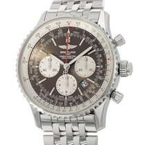 Breitling Navitimer Rattrapante Steel 45mm Brown Arabic numerals