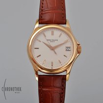 Patek Philippe Red gold Automatic Silver 37mm pre-owned Calatrava