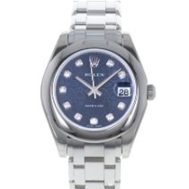 Rolex Or blanc Remontage automatique Sans chiffres 34mm occasion Lady-Datejust Pearlmaster