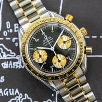 Omega Speedmaster Reduced Acero y oro 38mm Negro Sin cifras