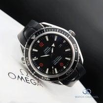 Omega Сталь Автоподзавод Черный 45.5mm подержанные Seamaster Planet Ocean