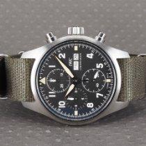 IWC Pilot Spitfire Chronograph Acero 41mm Negro Arábigos