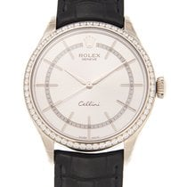 Rolex Cellini Time Witgoud 39mm Zilver