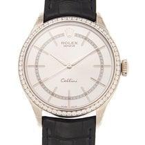 Rolex Cellini Time Oro blanco 39mm Plata
