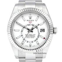 Rolex Sky-Dweller Acier 42mm Blanc Sans chiffres