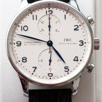 IWC Portugieser Chronograph Stahl 41mm Silber Arabisch Deutschland, Stetten