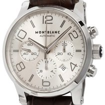 Montblanc pre-owned Automatic 43mm Silver Sapphire crystal 3 ATM
