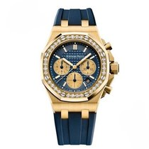 Audemars Piguet Royal Oak Offshore Lady Aur galben 37mm Albastru Fara cifre