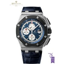 Audemars Piguet Platin Automatik Blau Keine Ziffern 44mm neu Royal Oak Offshore Chronograph