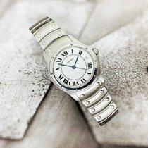 Cartier Santos (submodel) Сталь 34mm Белый Римские