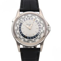 Patek Philippe World Time White gold 37mm Silver No numerals