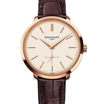Patek Philippe Calatrava Rose gold 38mm Silver No numerals