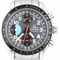 Omega Speedmaster Day Date Steel 39mm Grey Arabic numerals United States of America, New York, Lynbrook