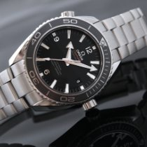 Omega Seamaster Planet Ocean Steel 45.5mm Black Arabic numerals