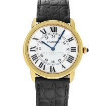 Cartier Ronde Solo de Cartier Yellow gold 36mm Silver Roman numerals United States of America, Maryland, Baltimore, MD