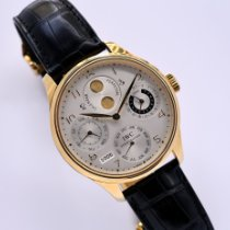 IWC Yellow gold Automatic 44.2mm pre-owned Portuguese Perpetual Calendar