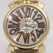 Gaga Milano Acero y oro 46mm Cuarzo 5081.2 usados