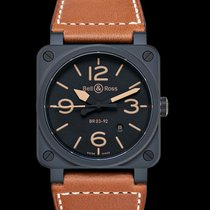 Bell & Ross BR 03-92 Ceramic new 2021 Automatic Watch with original box and original papers BR0392-HERITAGE-CE