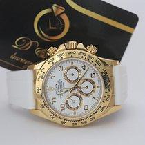 Rolex Daytona Zuto zlato 40mm Bjel Arapski brojevi