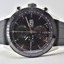 Oris Artix GT pre-owned 44mm Black Chronograph Date GMT Rubber