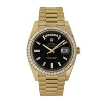 Rolex Day-Date 40 Yellow gold 40mm Black No numerals United States of America, New York, New York