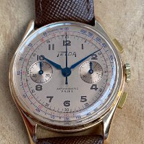 Chronographe Suisse Cie Or rose 36mm Remontage manuel occasion