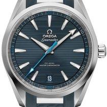 Omega Seamaster Aqua Terra Staal 41mm Blauw Geen cijfers
