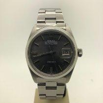 Rolex Air King Date Stahl 34mm Silber Keine Ziffern