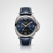 Panerai Luminor 1950 8 Days GMT Titane 47mm Bleu Arabes