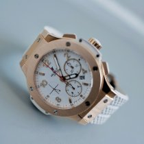 Hublot Big Bang 41 mm occasion 41mm Blanc Chronographe Date Caoutchouc