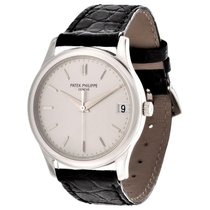 Patek Philippe Calatrava White gold 34mm Silver No numerals United States of America, California, Los Angeles