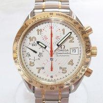 Omega Speedmaster Date Acero y oro 38mm Blanco Arábigos