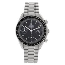 Omega Speedmaster Reduced Сталь 38mm Черный Без цифр