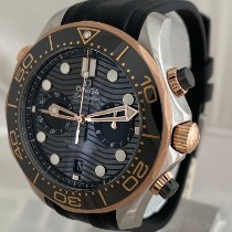 Omega Seamaster Diver 300 M 210.22.44.51.01.001 Unworn Gold/Steel 44mm Automatic