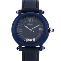 Chopard Plastic Quartz Blue Roman numerals 32mm pre-owned Happy Sport