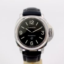 Panerai Luminor Base Logo Acciaio 44mm Nero Arabi