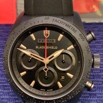 Tudor Fastrider Black Shield occasion 42mm Noir Chronographe Date Caoutchouc