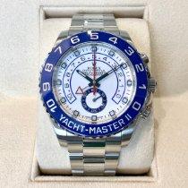 Rolex Yacht-Master II Staal 44mm Wit Geen cijfers