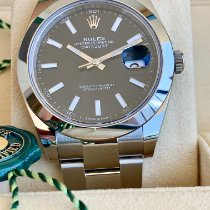 Rolex Datejust Steel 41mm Black No numerals