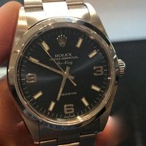 Rolex Air King Precision Staal 34mm Blauw Geen cijfers