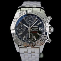 Breitling Chrono Cockpit Steel 39mm Grey Roman numerals